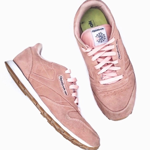 Classic Leather Pastel Pink Sneakers